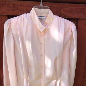 Vintage bubblegum pink blouse Size 14